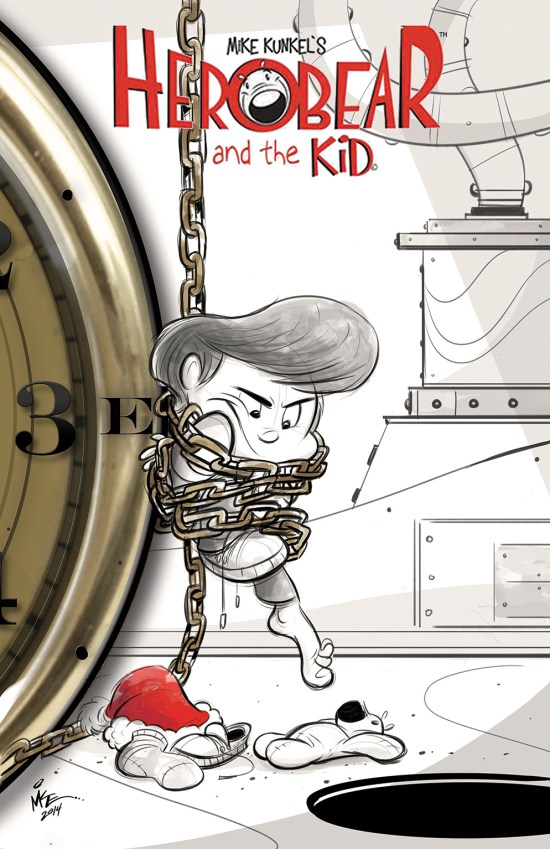 HEROBEAR AND THE KID: SAVING TIME #3 Cover by Mike Kunkel