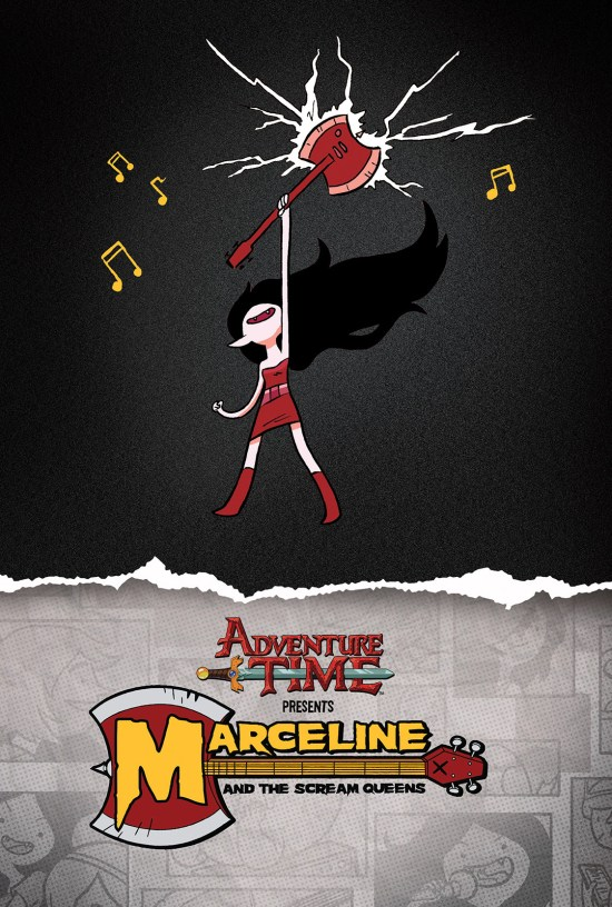 ADVENTURE TIME: MARCELINE AND THE SCREAM QUEENS MATHEMATICAL EDITION HC Cover by Gabriel Iumazark