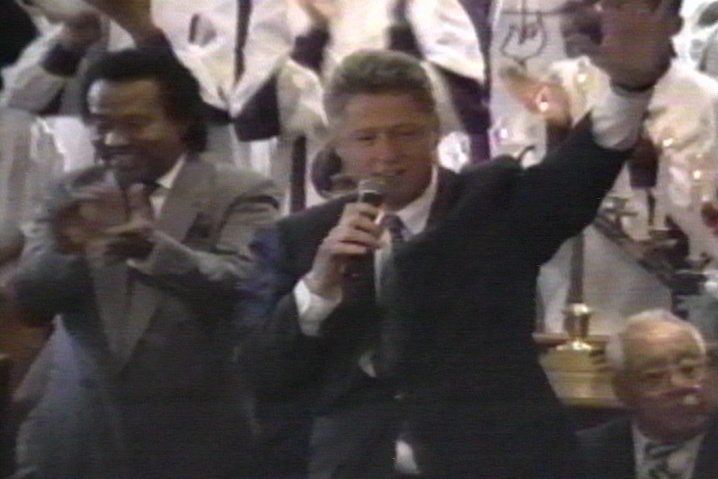 Bill Clinton speaks, prays, and sings at St. Paul Church of God in Christ on Chicago's South Side