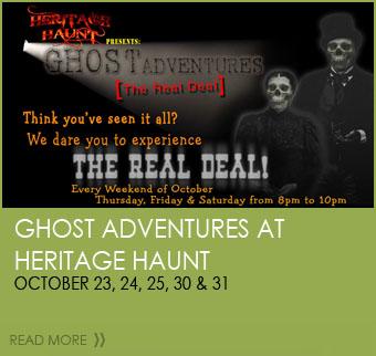 Ghost Adventures - October 23, 24, 25, 30 &31