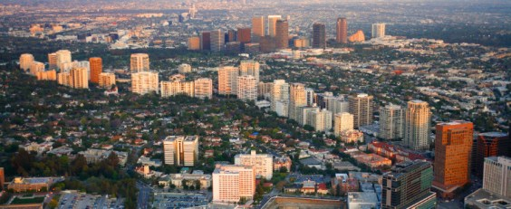 View of Westwood, Wilshire Corridor, Beverly Hills, and Century City
