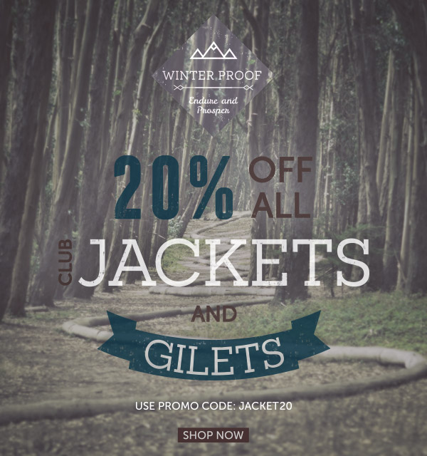 20% Off all club Jackets and Gilets