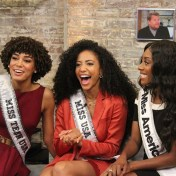 Miss Teen USA 2019 Kaliegh Garris, Miss USA 2019 Cheslie Kryst and Miss America 2019 Nia Franklin are all smiles while filming CBS This Morning