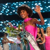 Miss Teen USA 2019 Kaliegh Garris waves to the crowd after her crowning