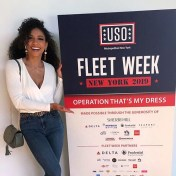 Miss USA 2019 Cheslie Kryst poses for Fleet Week 2019