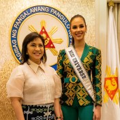 Miss Universe 2018 Catriona Gray at the Senate of the Philippines
