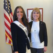Miss USA California 2019 Erica Dann at the Nevada State Capitol
