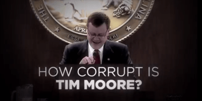 "NEW AD Questions ""How Corrupt is Tim Moore?"""