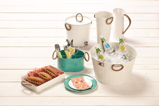 PC® coloured metal dinnerware and serveware