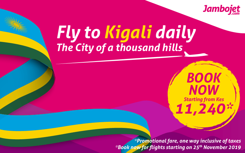 Fly to Kigali from Ksh 11,240!