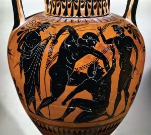 Vase showing Pankration