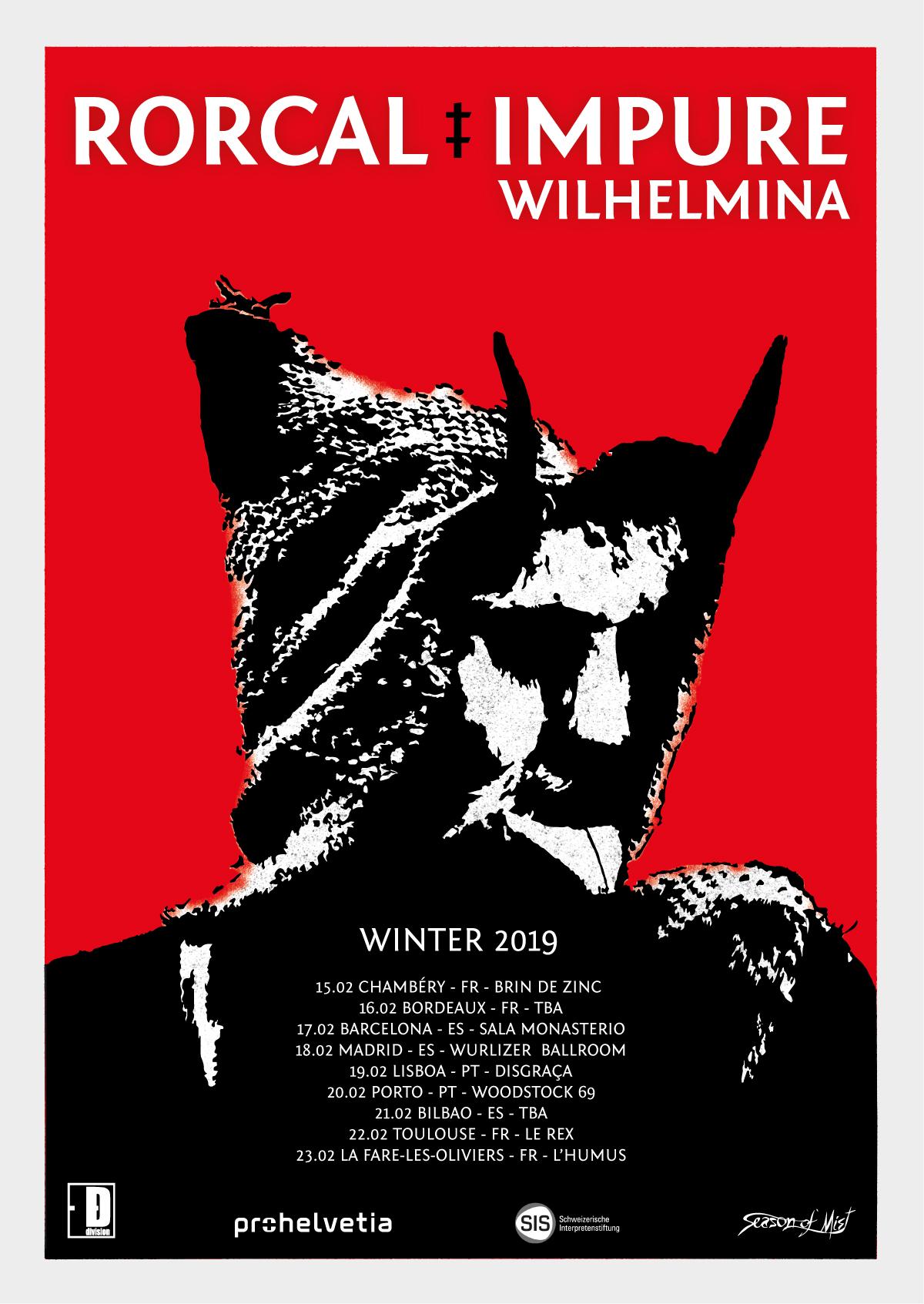 """瑞士金屬樂團 Impure Wilhelmina 將與Rorcal開始巡演,並推出新的MV """"Murderers"""""""