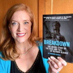 Andrea with Norm's book, Breakdown