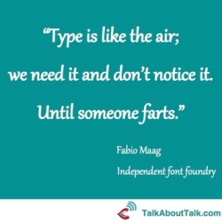 Fonts quote - Fabio Maag