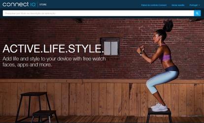 Personalize o seu dispositivo Garmin(R) com a plataforma Connect IQ™ 1