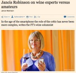 Janice Robinson on wine experts vs amateurs