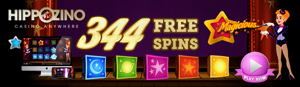 344 Free Spins on the Magicious on Hippozino!