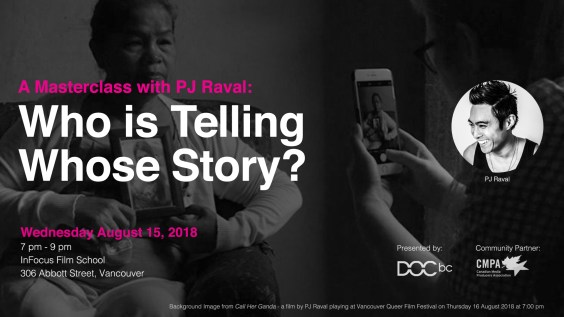 A Masterclass with PJ Raval: Who is Telling Whose Story?