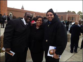 Photo: It was GREAT seeing some of my former co-workers at the Home-going service today for Mitch Malone