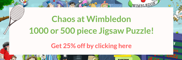 Chaos at Wimbledon! 1000 or 500 piece Jigsaw Puzzle