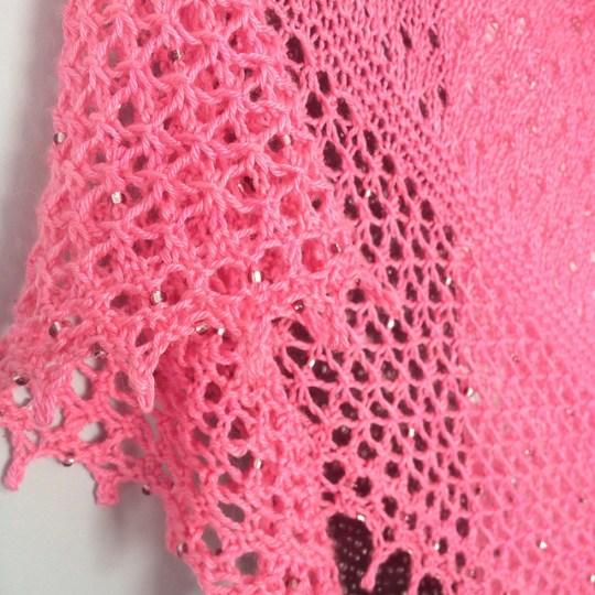 Shawl in Parapadschada pink