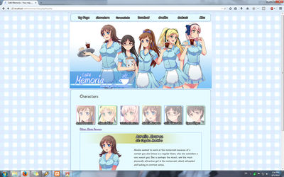 Cafe Memoria site preview