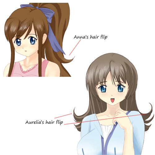 Anna and Aurelia hair flip