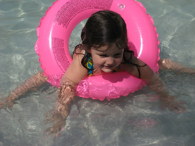 Catherine at the wading pool