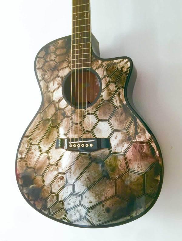 Old Silver Guitare