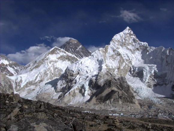 Mount Everest seen from the Nepal side