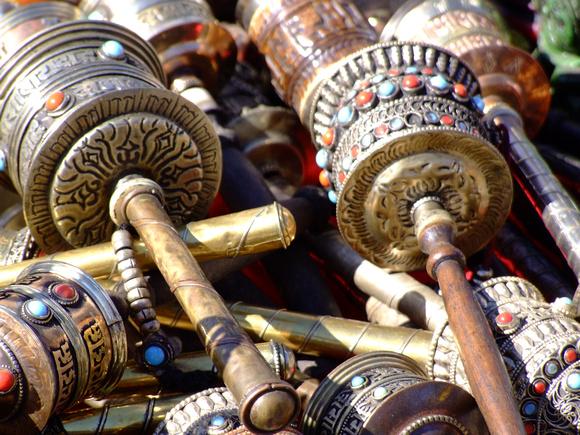 Prayer wheels in Nepal