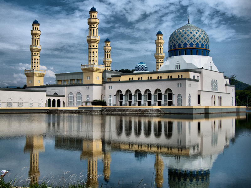 Visiting the City Mosque in Likas Kota Kinabalu