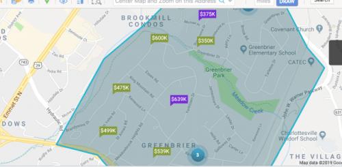 Greenbrier - wouldn't fit & still keep street names