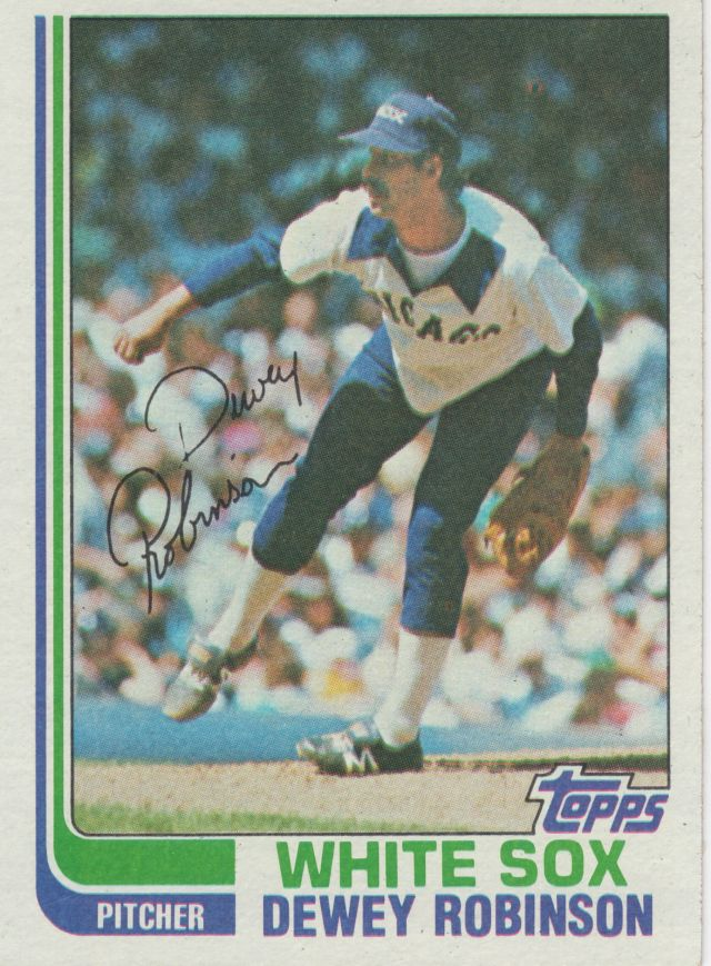 Dewey Robinson, White Sox, Topps card 1982