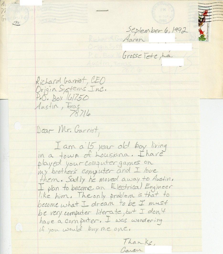 Richard Garriotts Collection Of Letters The Origin Gallery