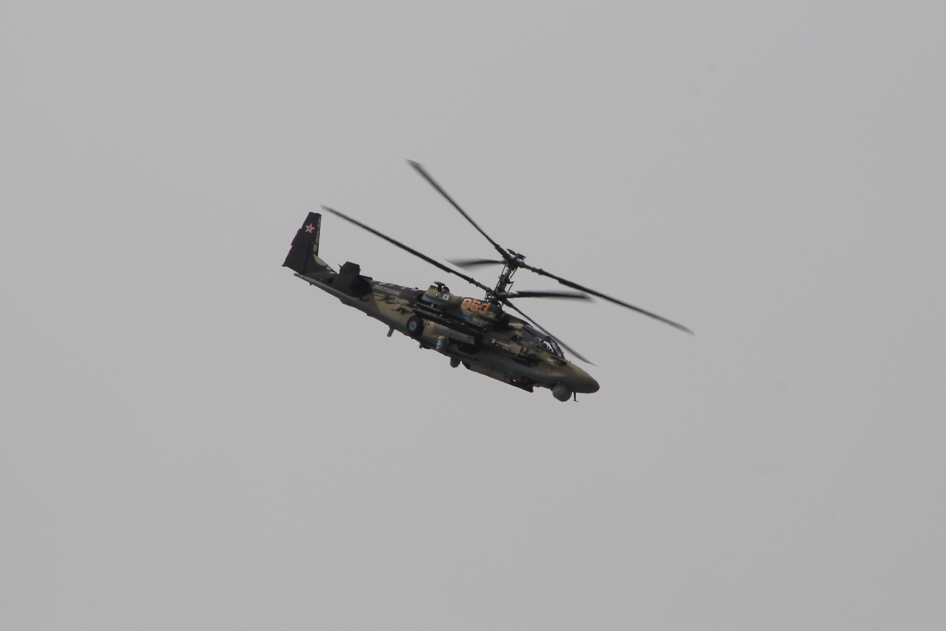 Demonstration of the Kamov Ka-52, first time in the West