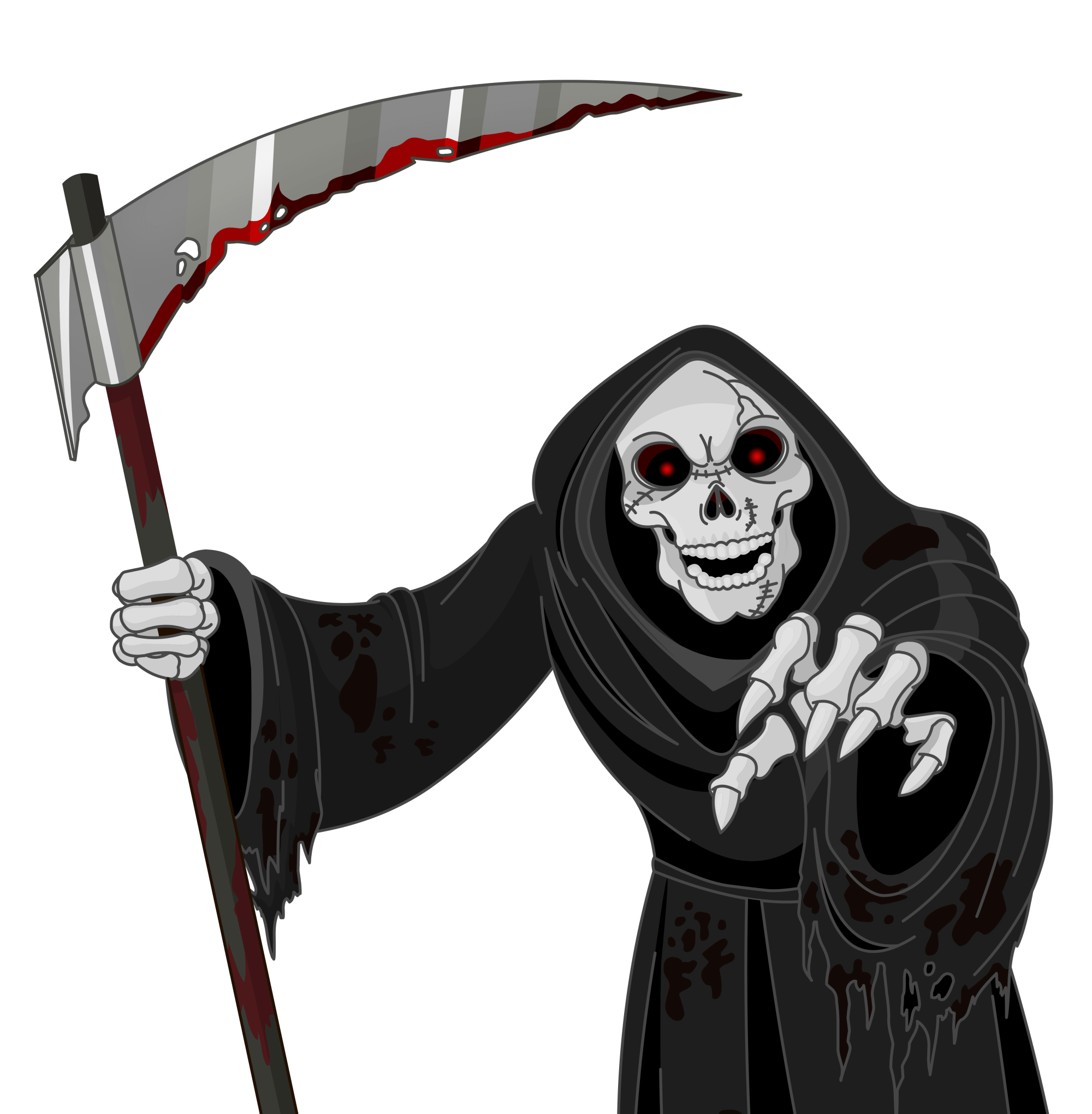 hight resolution of scary grim reaper png vector clipart