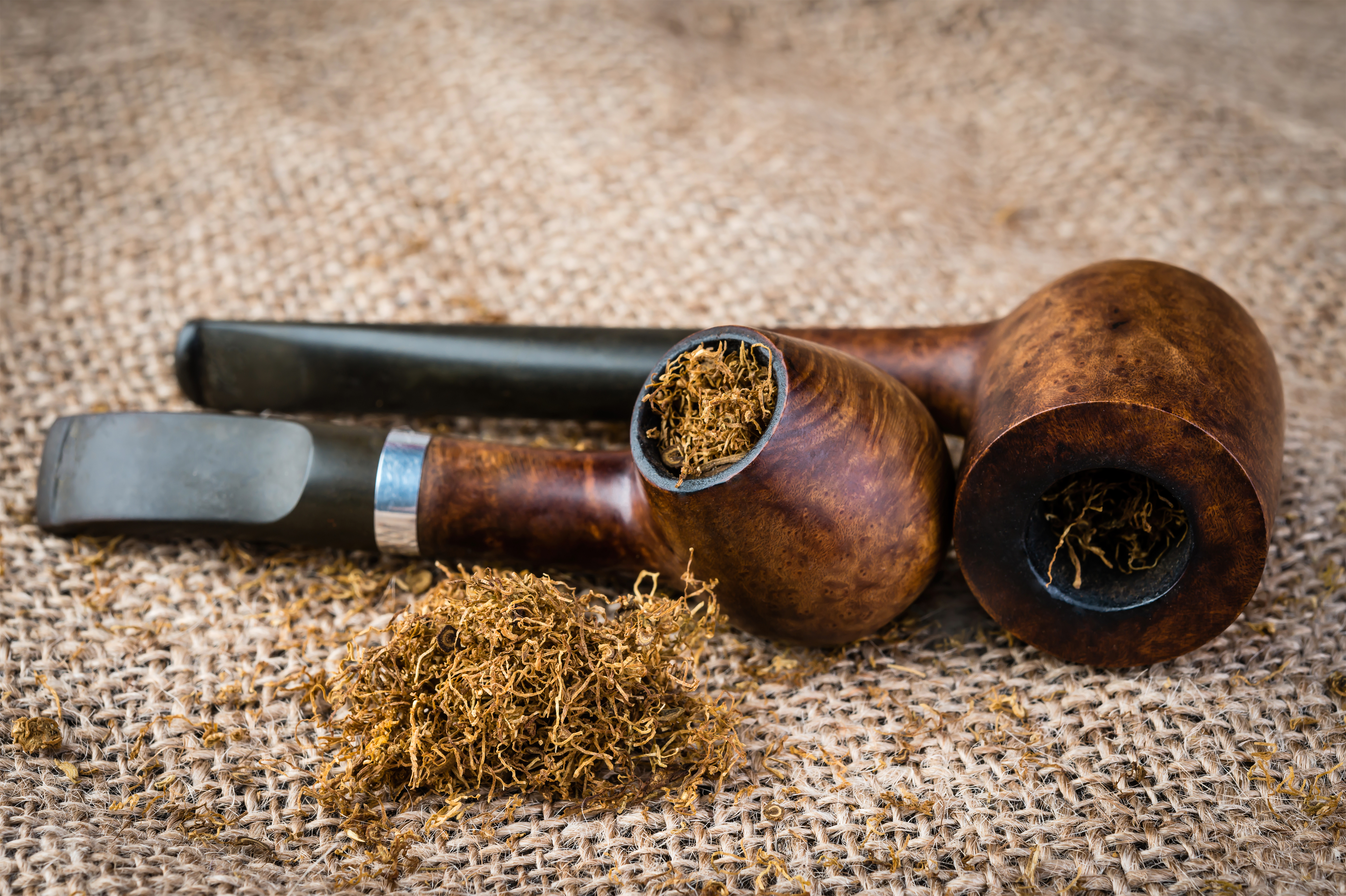 Background With Pipes And Tobacco
