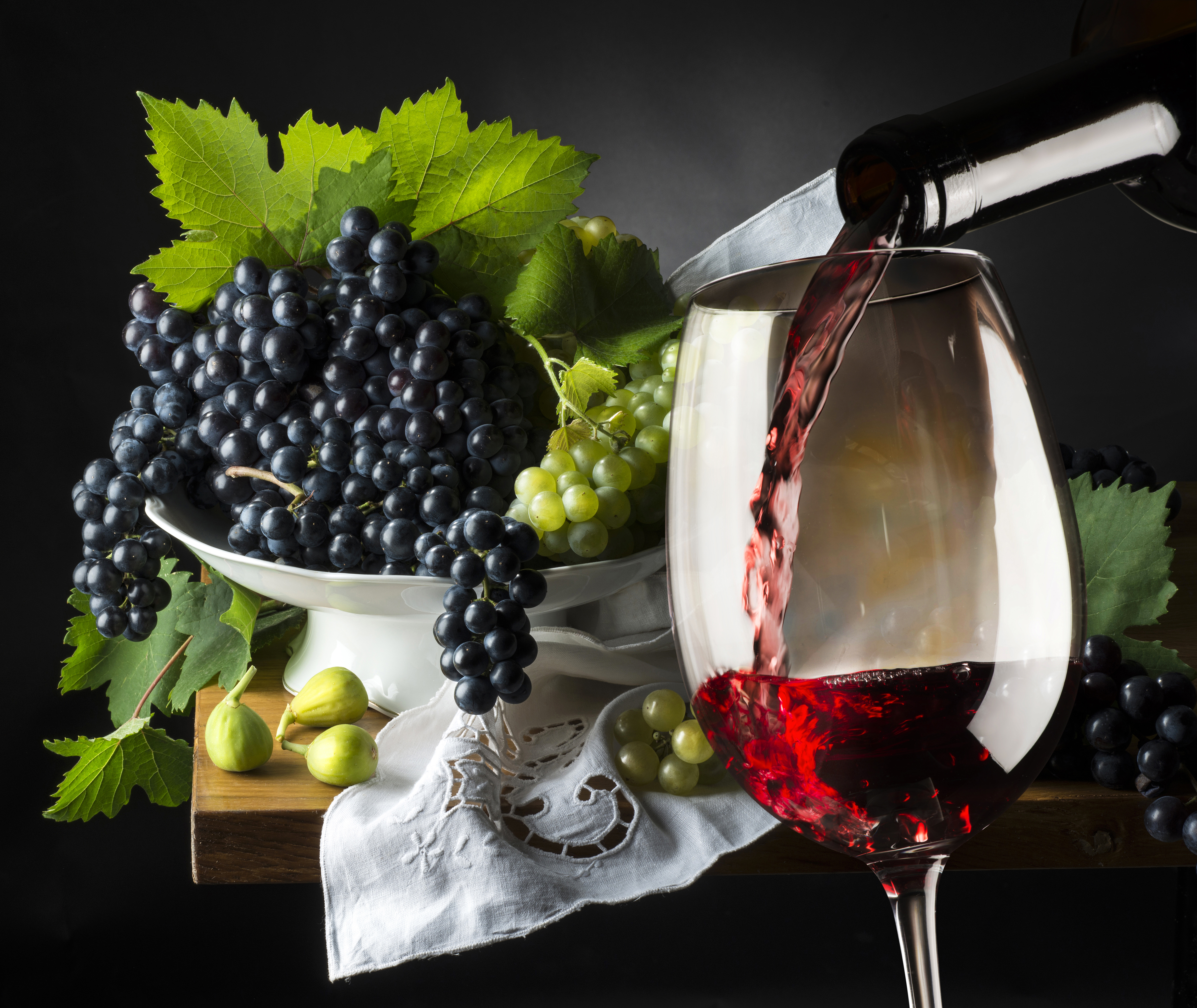 Grapes And Wine Background - High