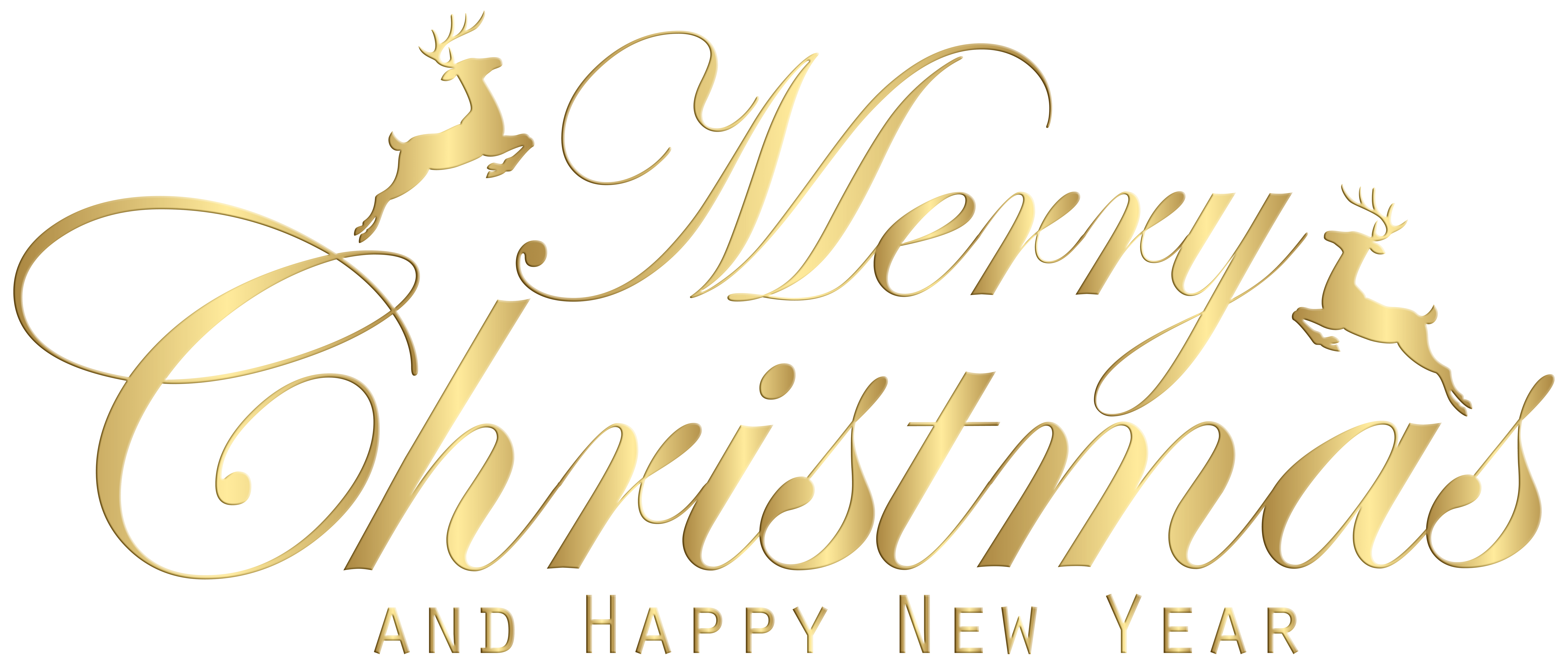 Merry Christmas Gold Transparent Clip Art Image Gallery