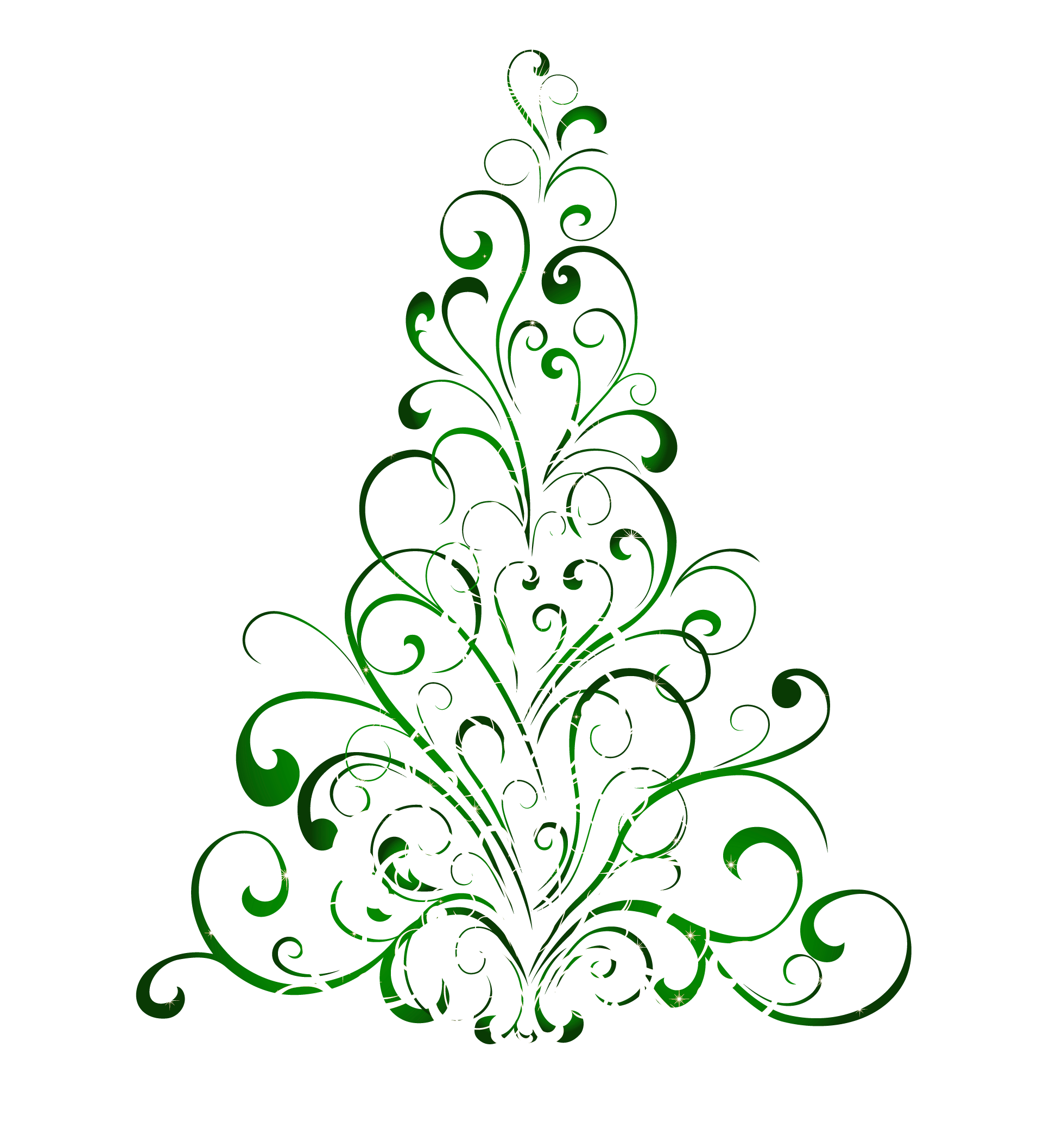 transparent green christmas tree png clipart [ 1958 x 2114 Pixel ]