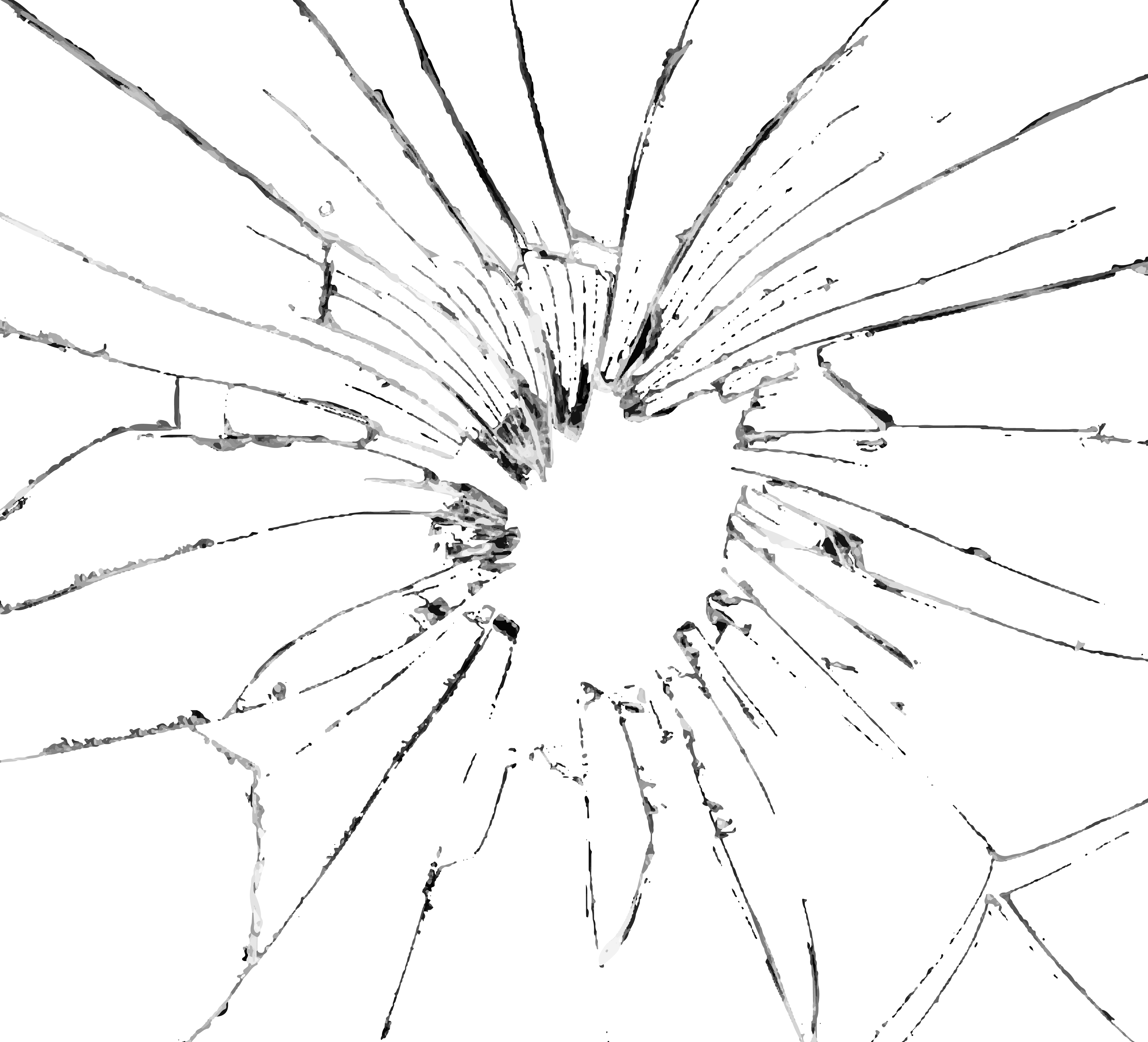 hight resolution of broken glass effect png clip art