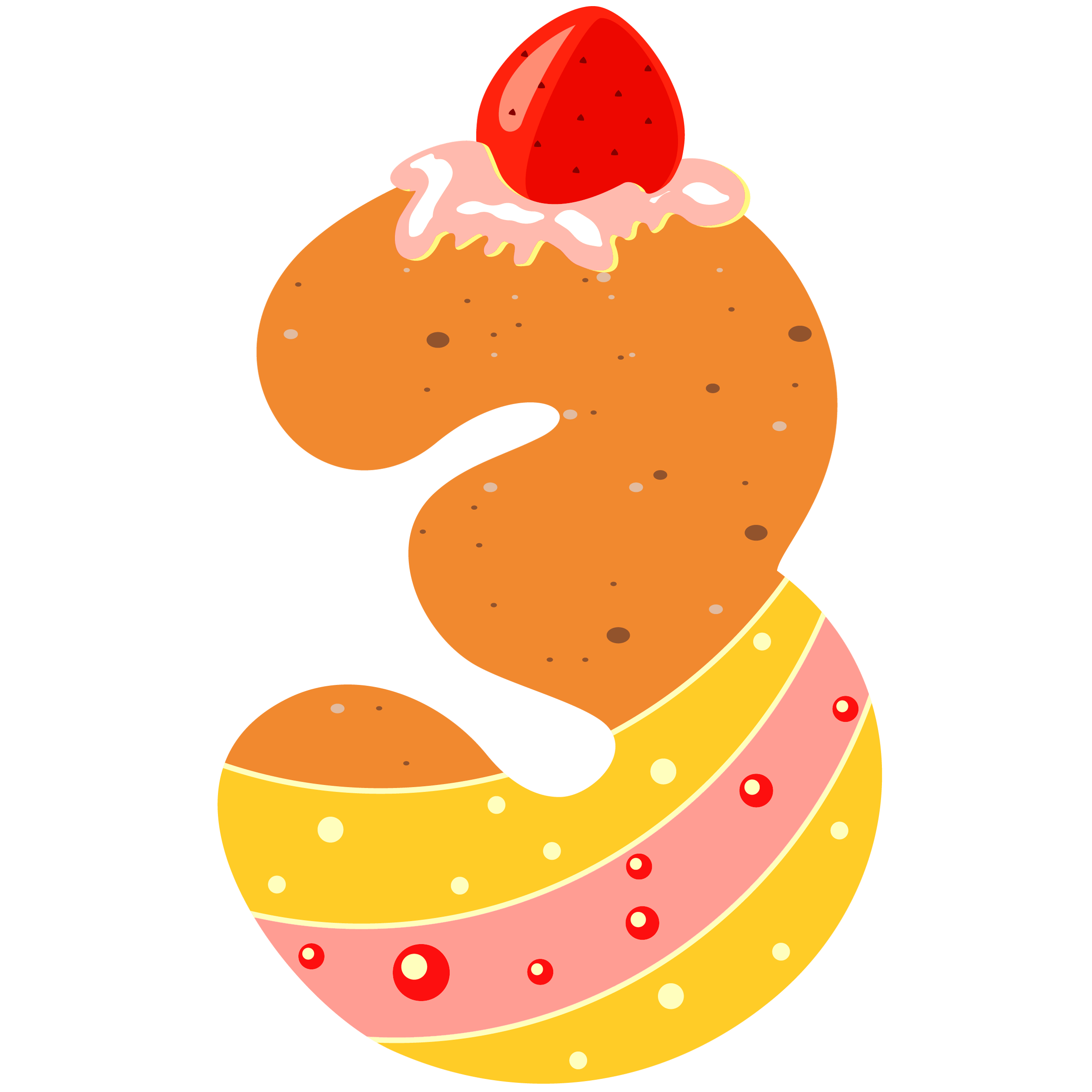 small resolution of sweet number three png clipart image