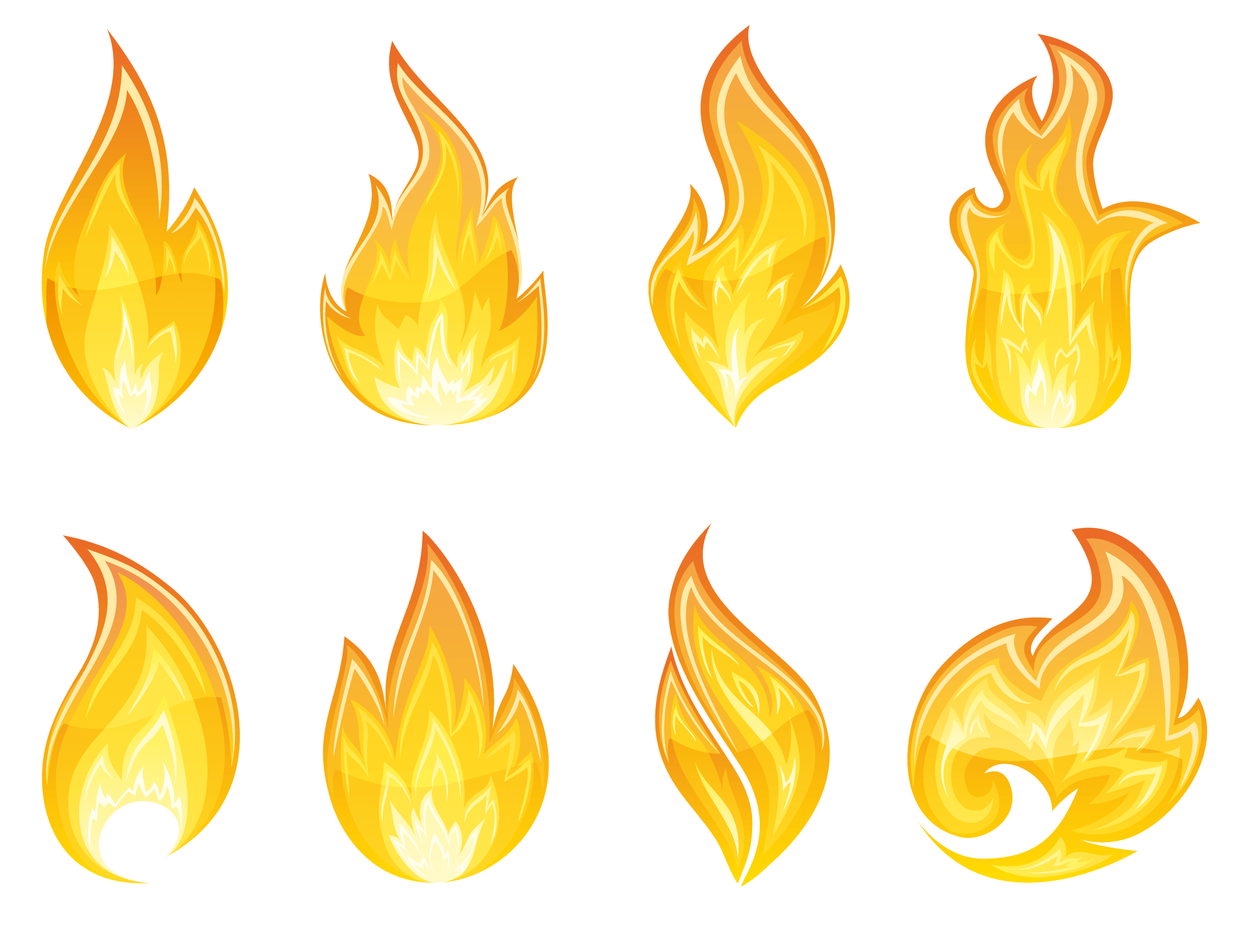 hight resolution of transparent flame set png clipart