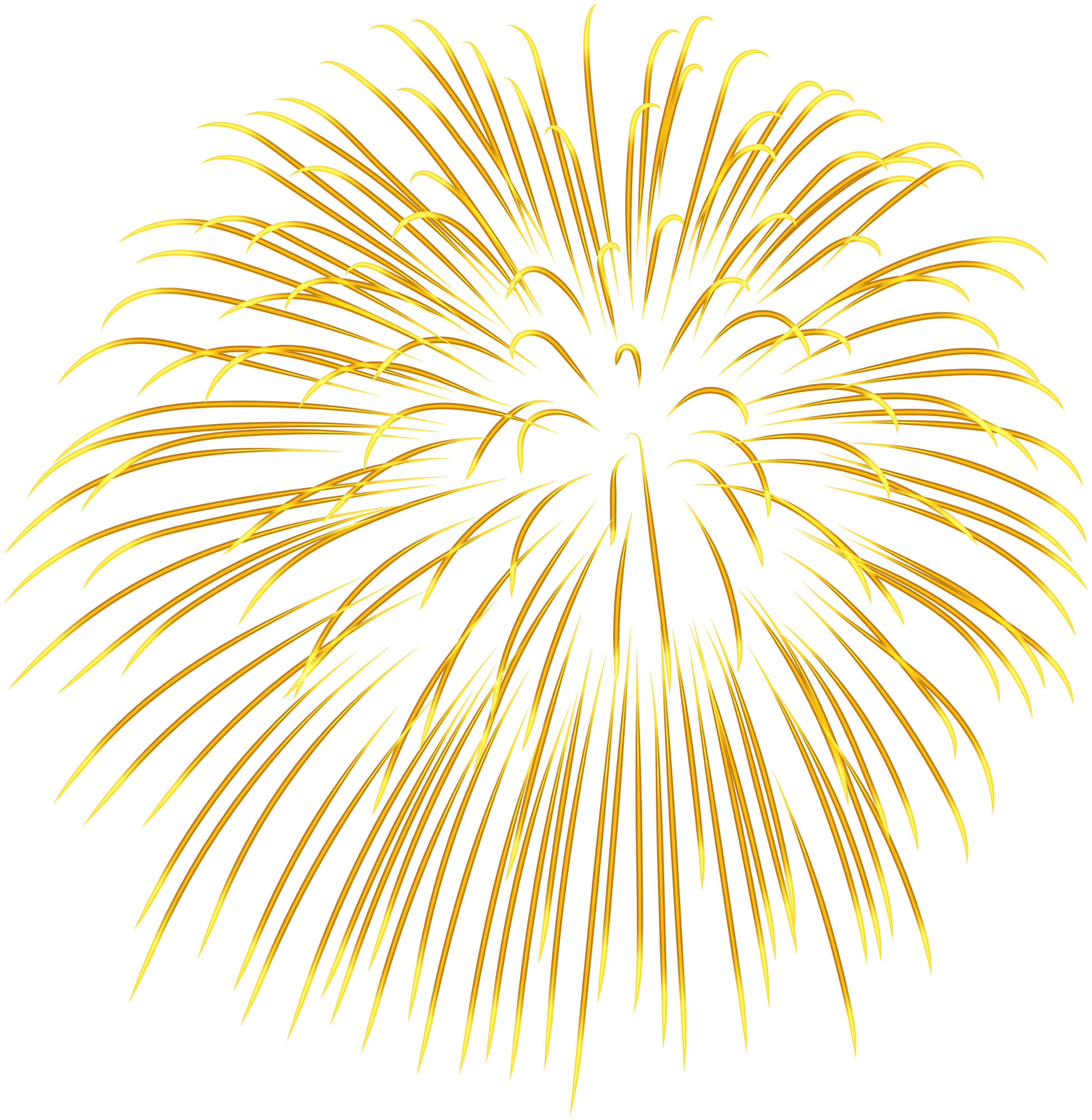 hight resolution of firework yellow transparent png image