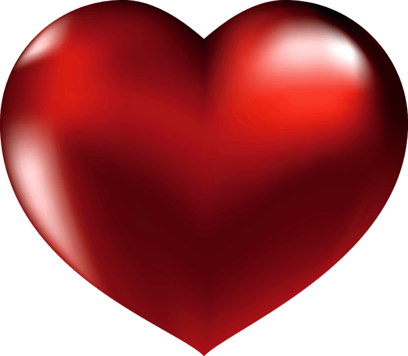 large red heart clipart