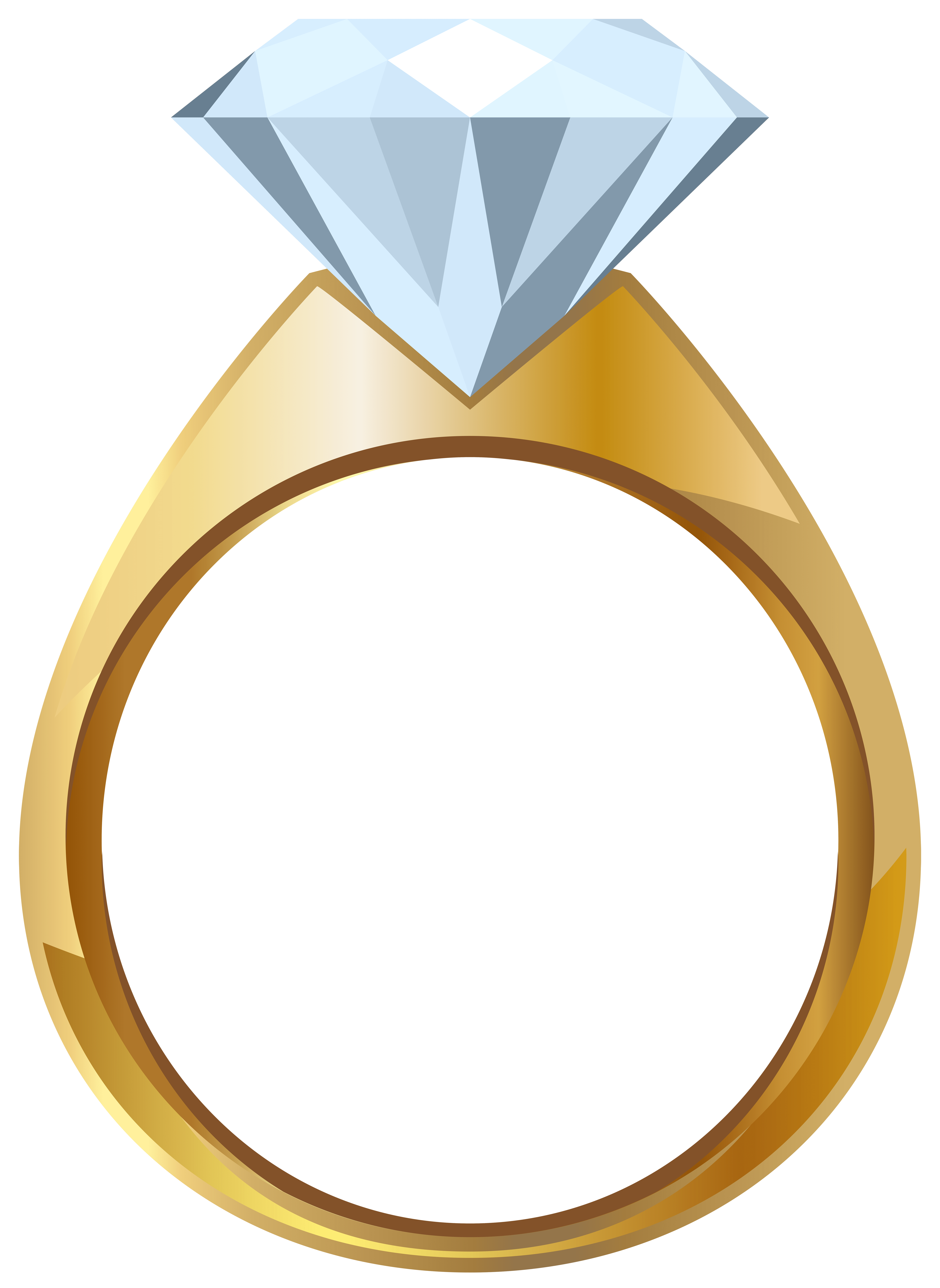 gold engagement ring png