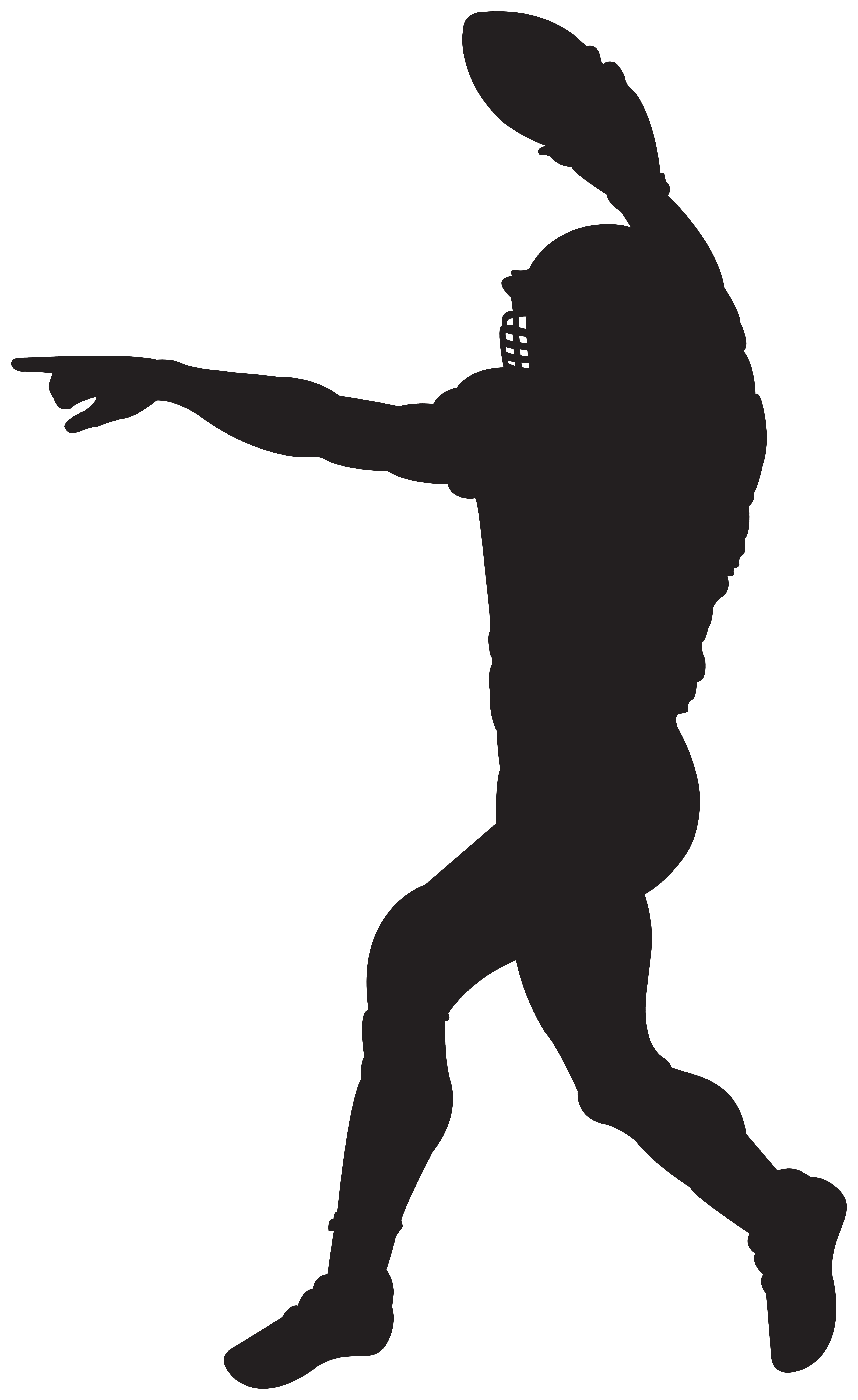 small resolution of american football player silhouette clipart image
