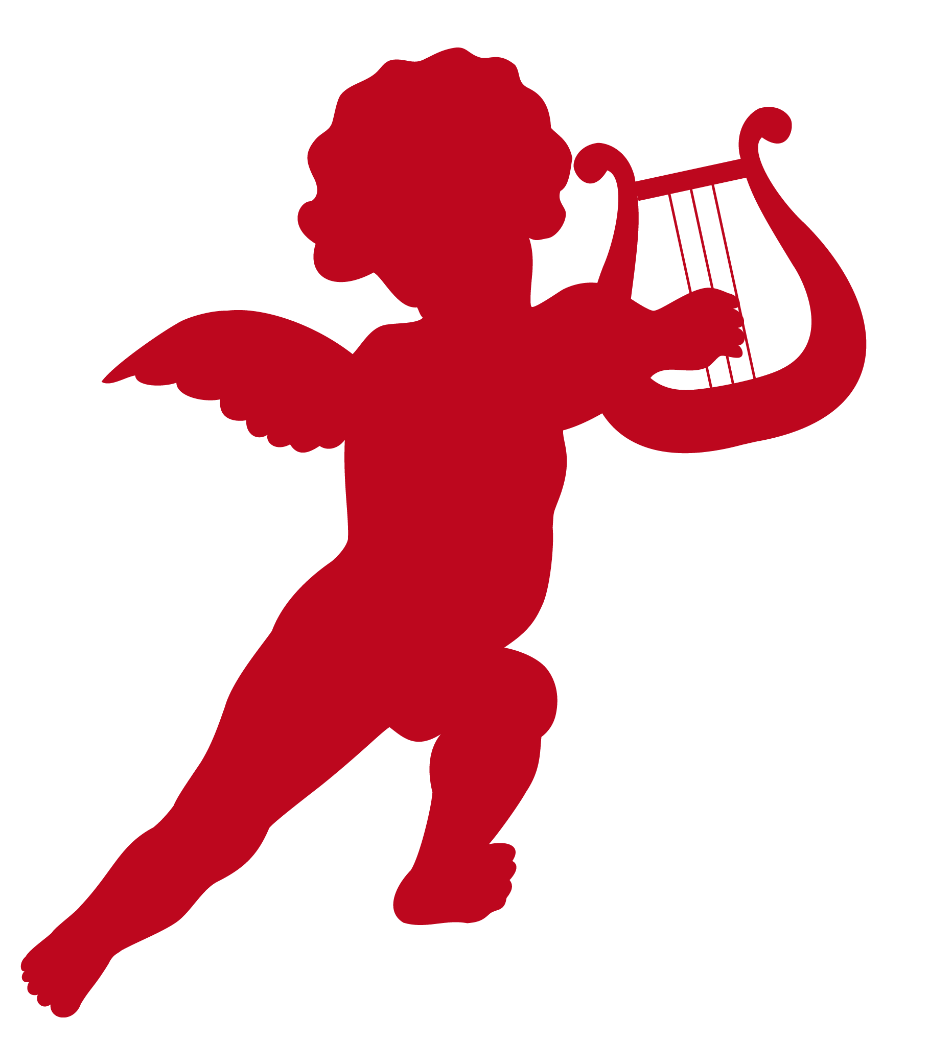 hight resolution of cupid with harp transparent png clip art image