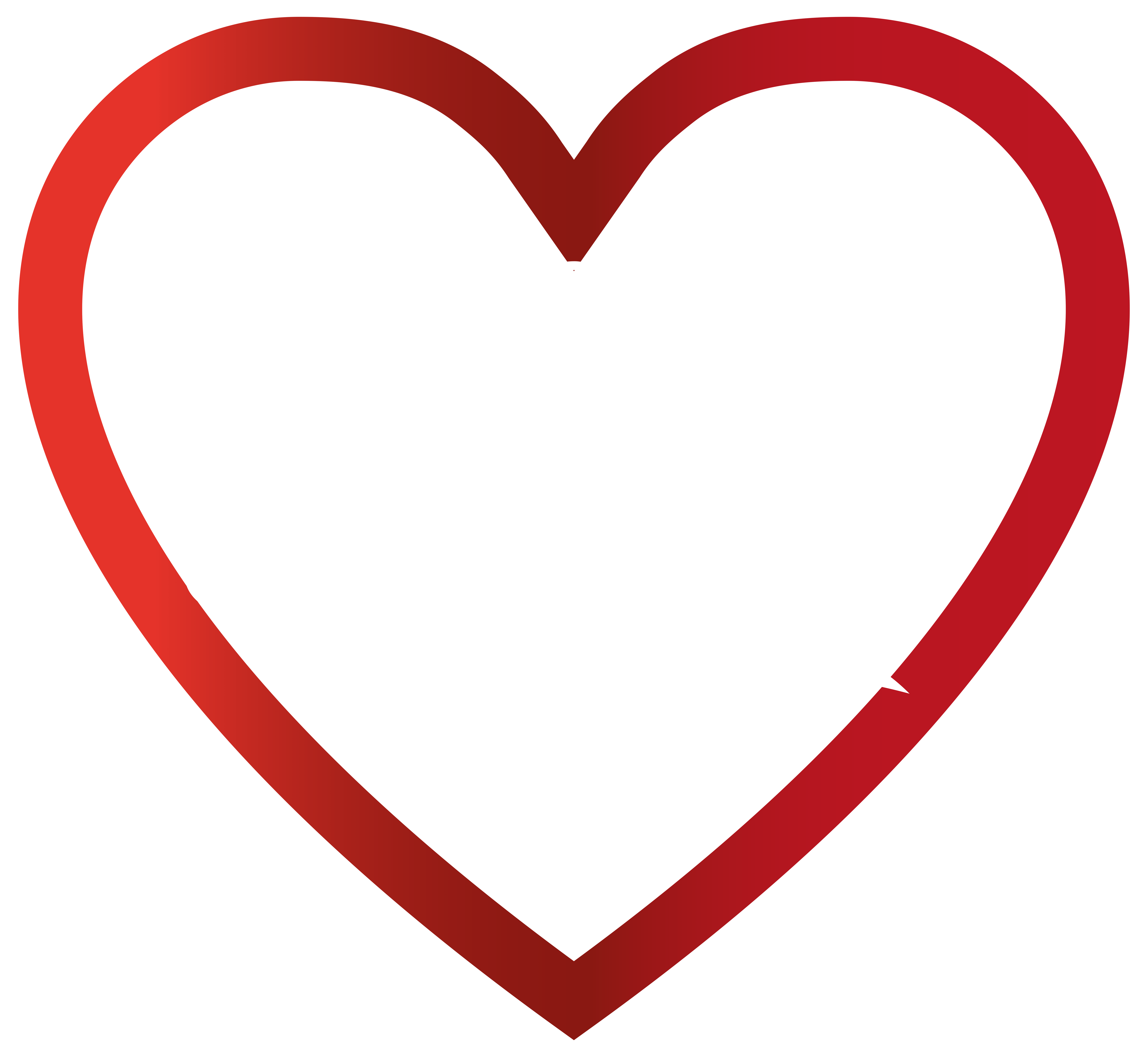 hight resolution of love heart transparent png clip art image
